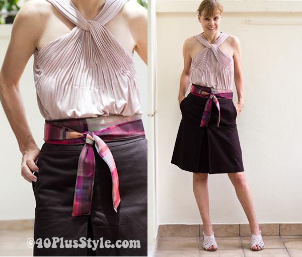 alldressedup top zara skirt