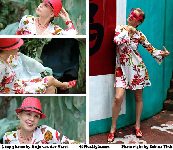 Flower dress - photoshoot in How Par Villa