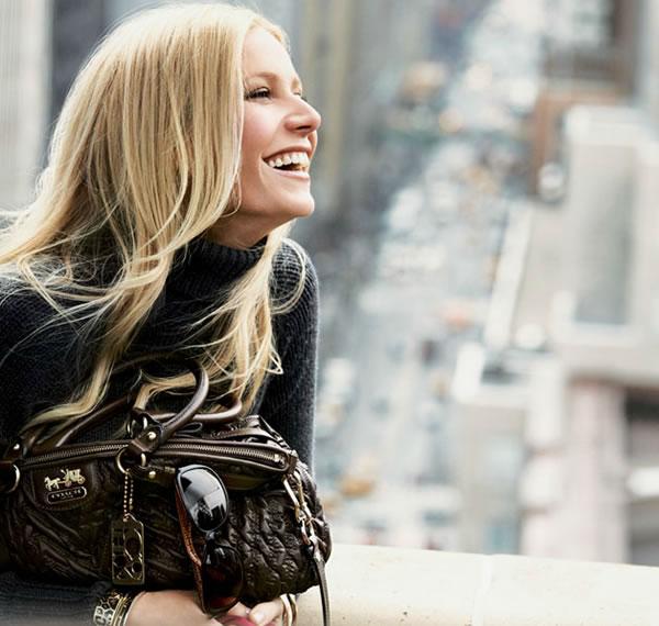 Gwyneth paltrow for coach ad Madison coach bags range