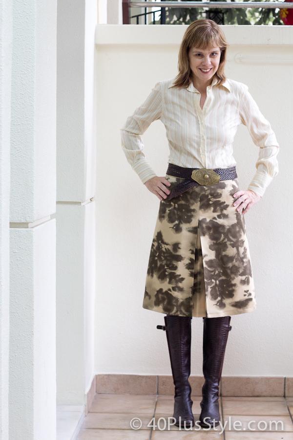 Not quite an animal print skirt