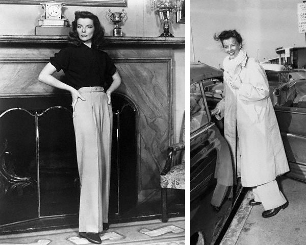 Style Icon Katharine Hepburn Initiator Of The Men S Trend