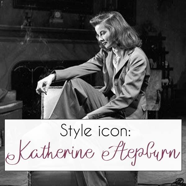 Katharine Hepburn style icon | 40plusstyle.com