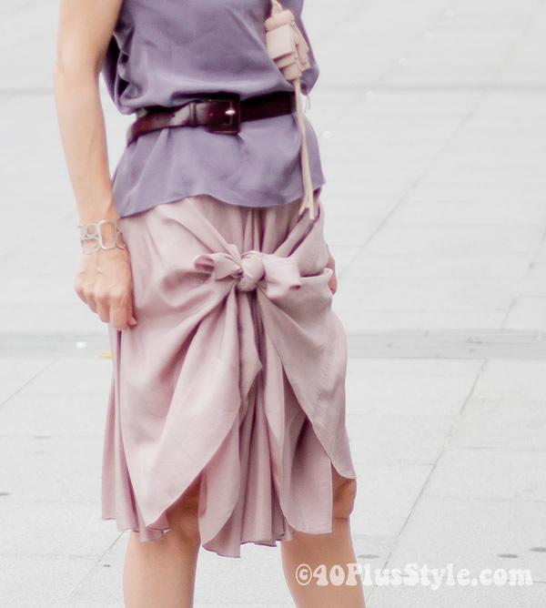 silk Skirt basic to fashionable - single knot