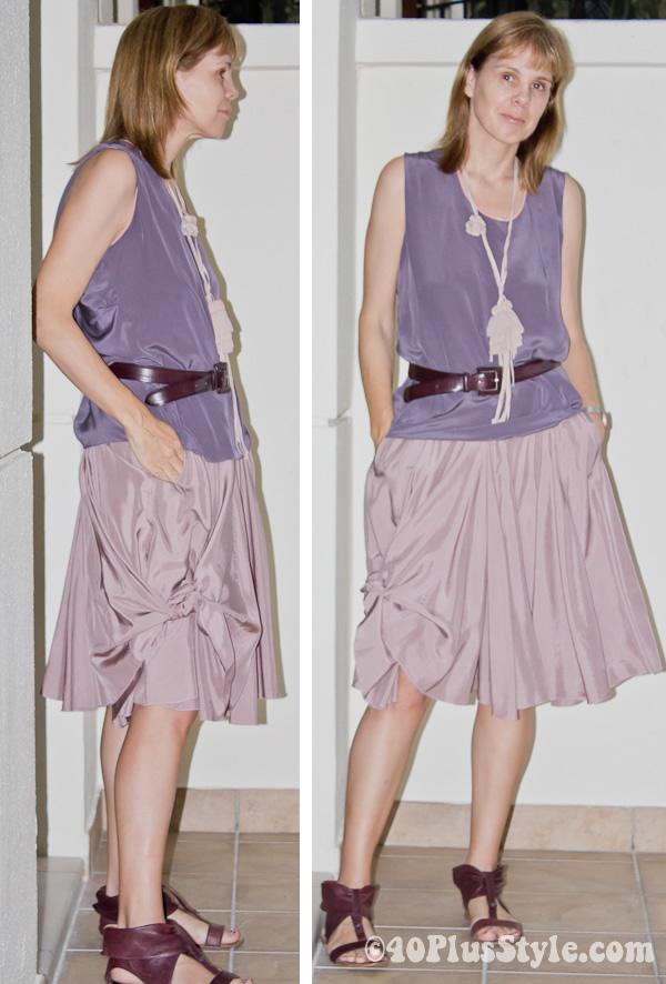 skirt basis to fashionable 1 knot