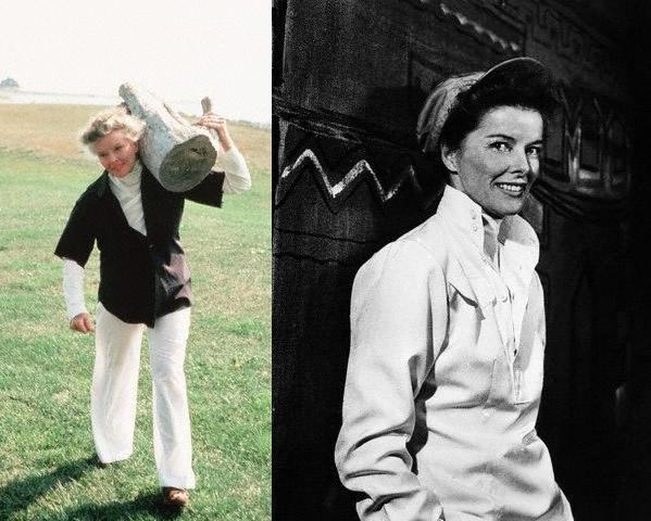 Style icon Katharine Hepburn