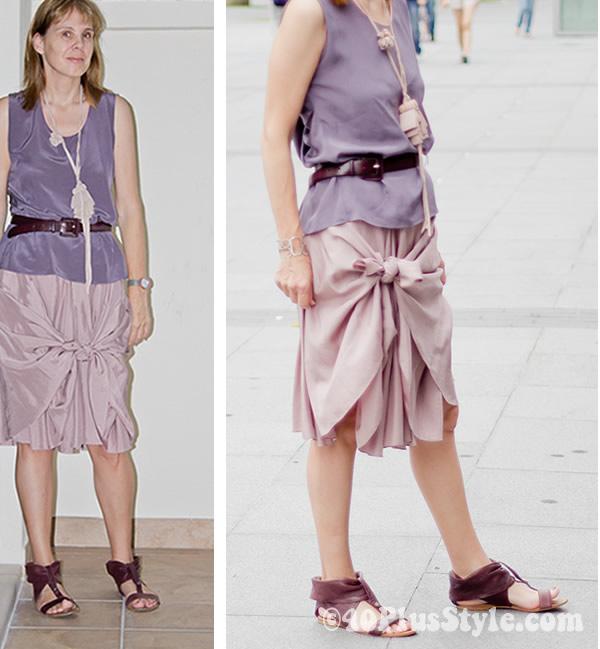 tied skirt