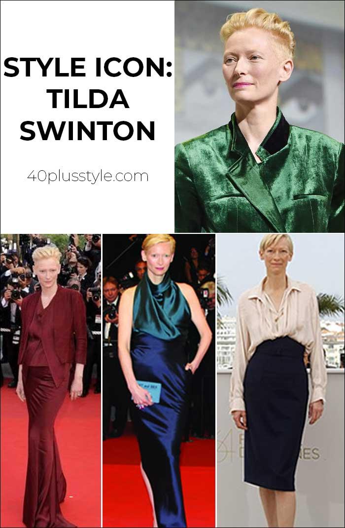 40+ Style icon: Tilda Swinton   40plusstyle.com