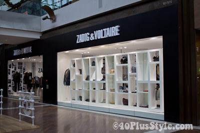 Zadig and Voltaire shop at Marina Bay Sands Singapore