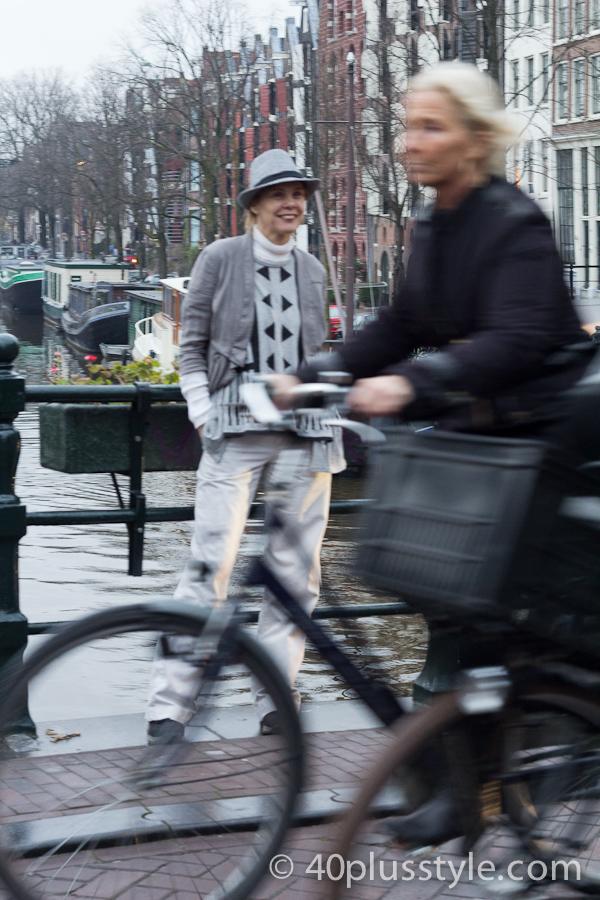 amsterdam fashion shoot with cyclist