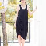 Little black draped dress | 40plusstyle.com