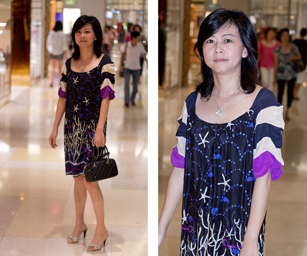 blue print dress   40plusstyle.com
