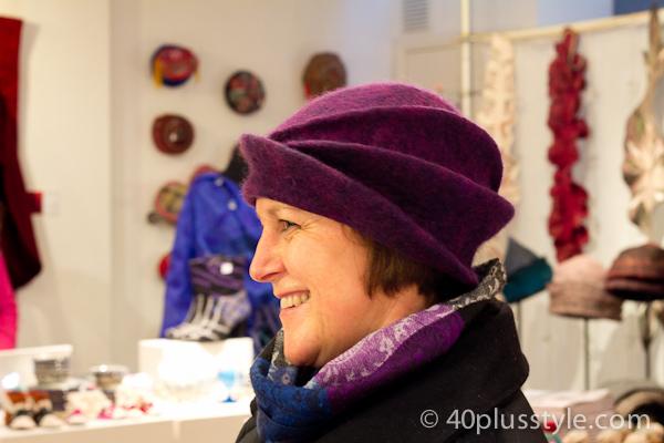 Purple felt hat
