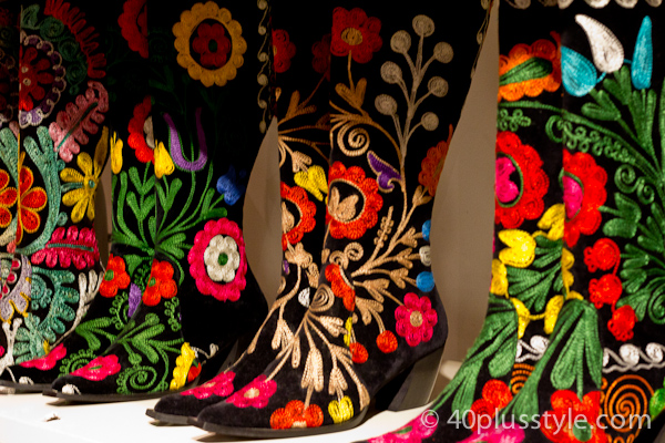 Colorful fashion boots