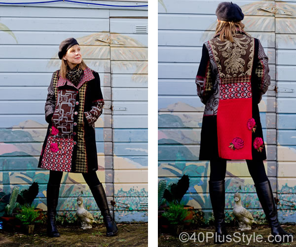 Beautiful winter coats with colors and patterns! Desigual ...