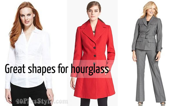 Great outfit choices for the hourglass shape | 40plusstyle.com