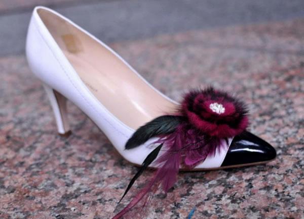 shoe accessory purple singapore