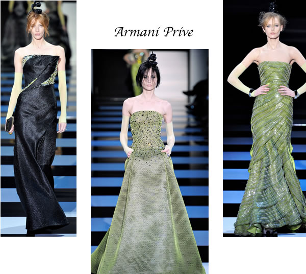 Best evening gowns Armani Prive