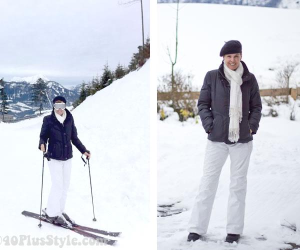 Black and white ski clothes