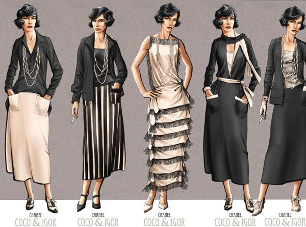 Coco chanel fashion designs 1920 dresses