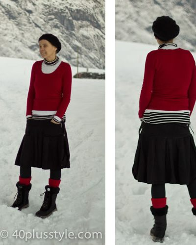 winter outfit for the snow