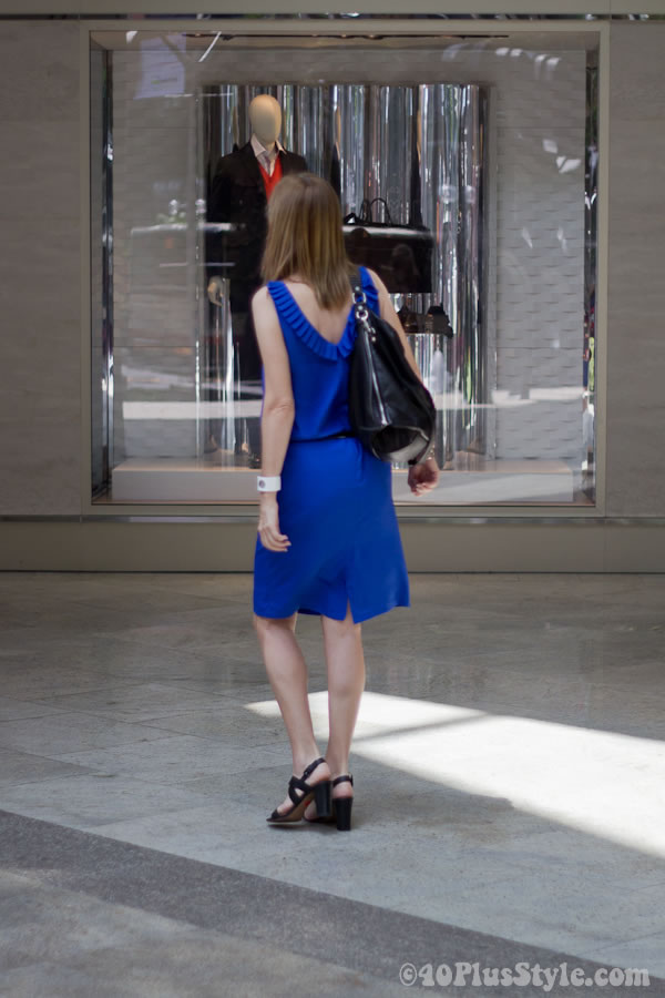 Bright Blue Cobalt dress