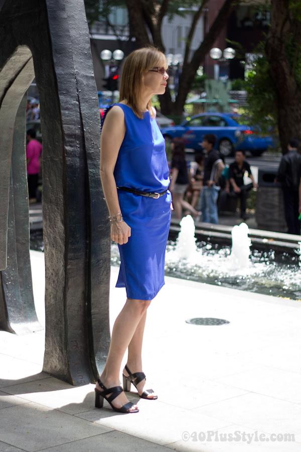 Bright blue cobalt dress from drestomony