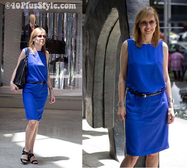 Bright cobalt dress from Dresstromony Singapore