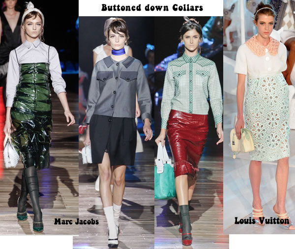 Buttoned down collars