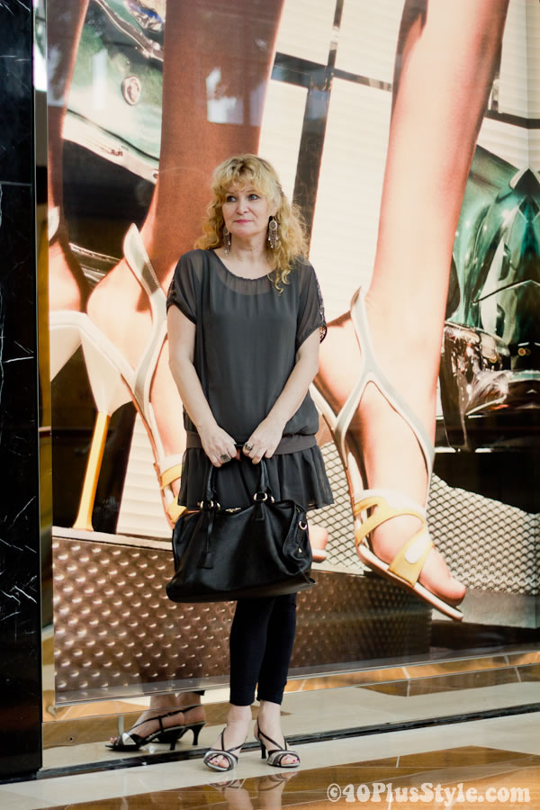 Anja in front of Prada store in Marina Bay Sands Singapore