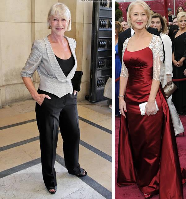 Helen mirren dress style