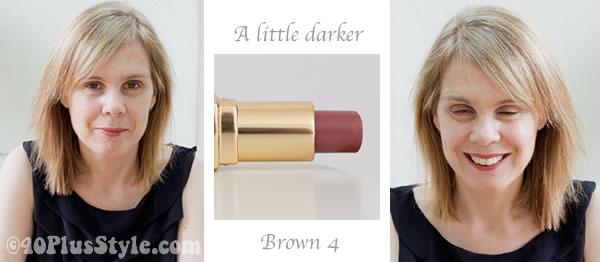 Bobbi Brown lipstick review brown 4