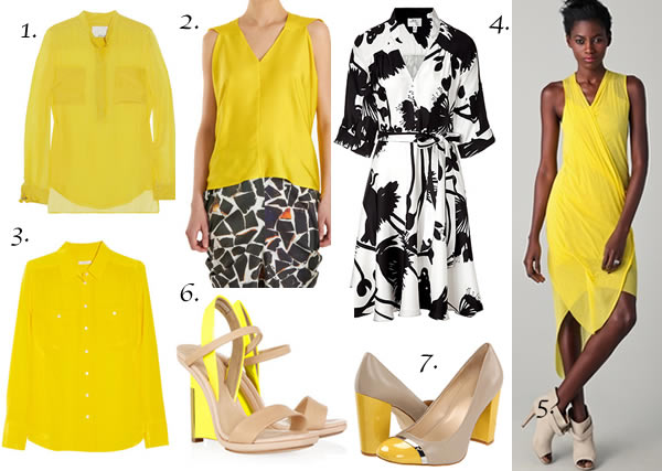 Bright yellow outfits