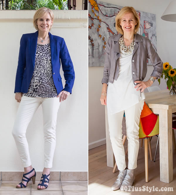 Combining capris with jackets | 40plusstyle.com