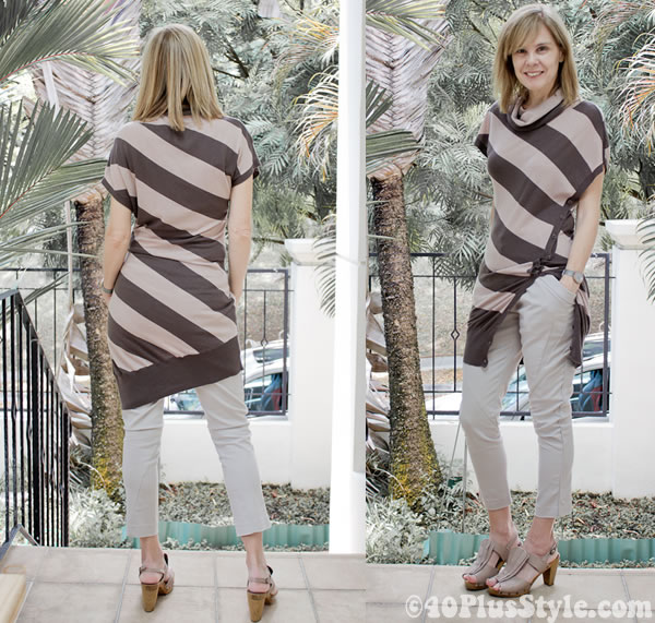 Cropped pants with tunic