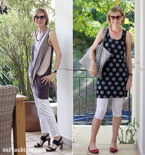 how to wear capris with tunics | 40plusstyle.com