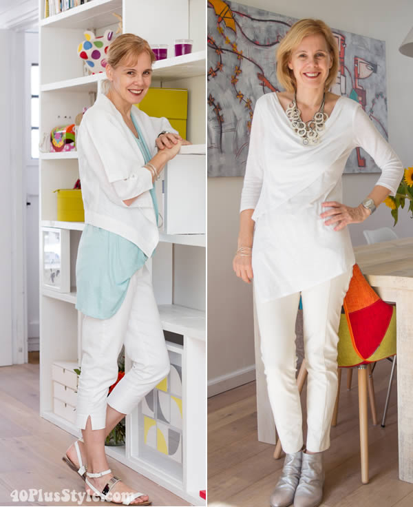 wearing white capris | 40plusstyle.com