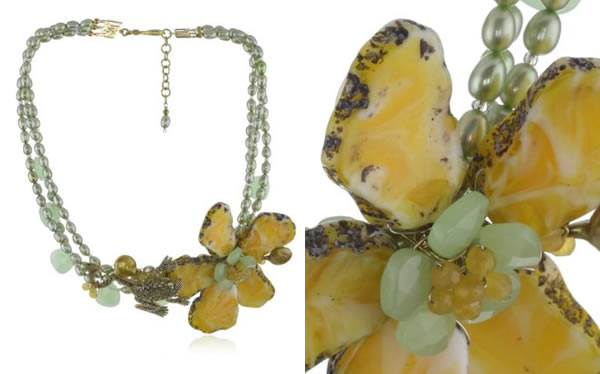 Yellow and green jewellery