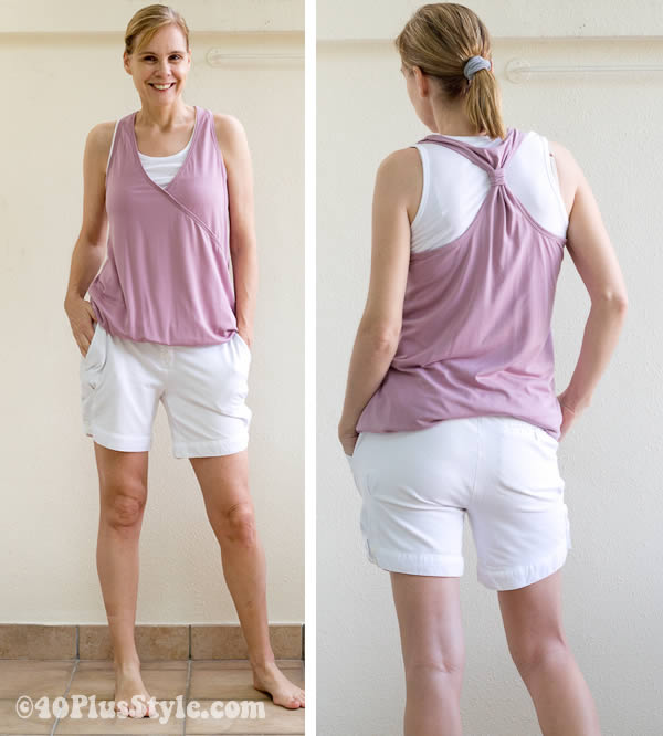 fashionable yoga clothes for women | 40plusstyle.com