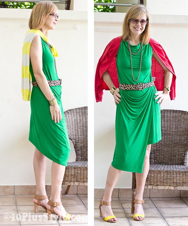 bright coloured dress