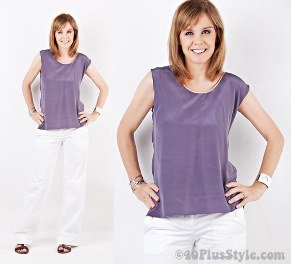 purple silk alldressedup top