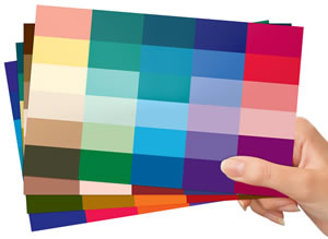 Style types colour cards