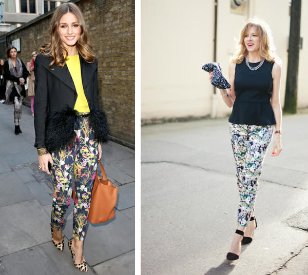 How to wear floral pants over 40, one of the hot Spring ...