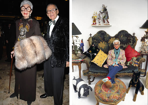 Iris Apfel with her husband