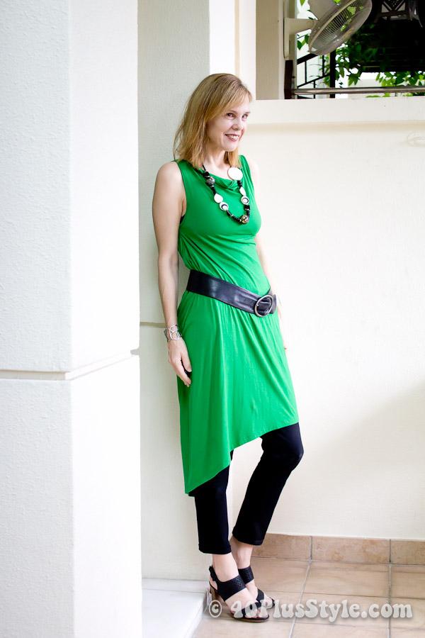 Remixing a green wrap dress