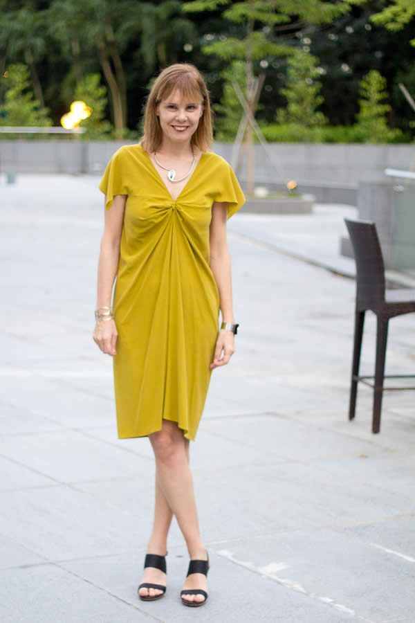 Alldressedup drape dress