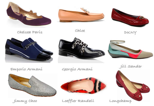 Flat shoes for fall 2012