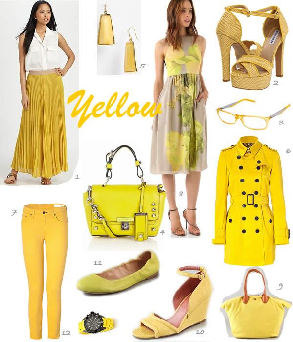 wearing yellow