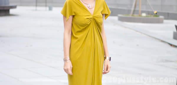 yellow dress detail