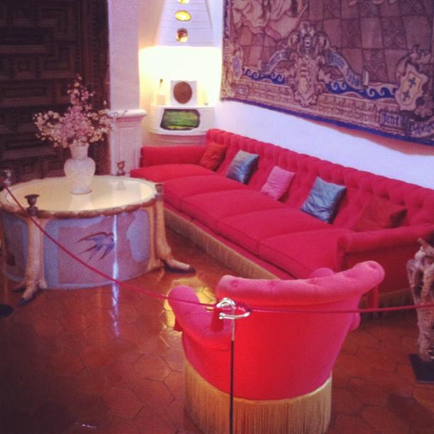 Dali's living room in Pobol castle
