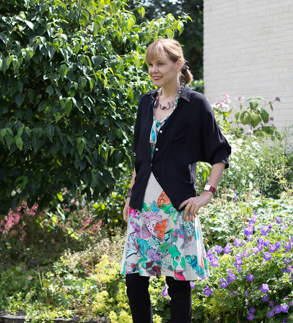 flower dress with cardigan